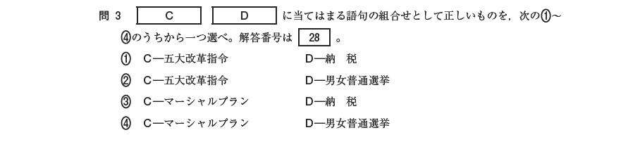 (平成27年度第一回日本史Aより)