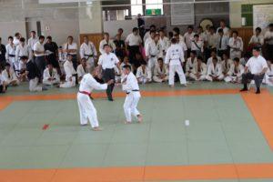 個人戦90kg級で3位の福田くん(左)